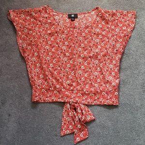Red crop top